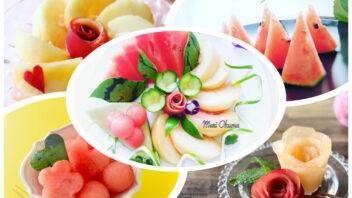 スイカと桃のおもてなしプレート